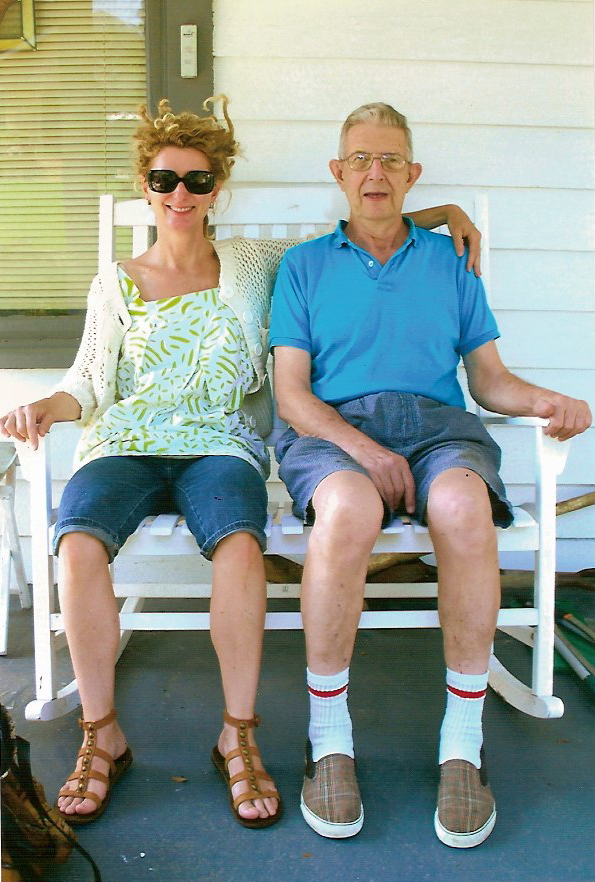 Mimi and her Dad, Jim Moncier (1932-2011) in 2010