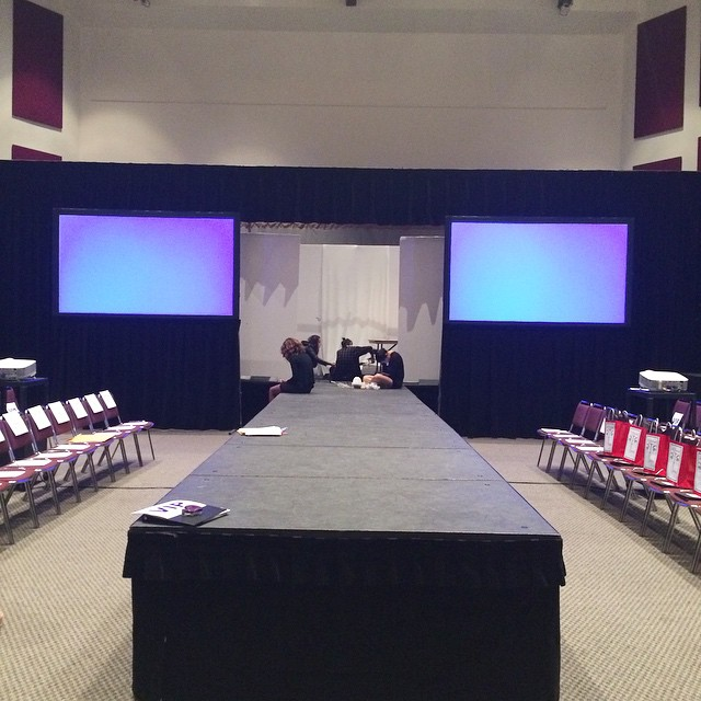 Preparations are well underway! 4 Hours and Counting until our Spring 2015 Fashion Show. Make sure you get your tickets. Box Office opens at 3pm !! #TRENDS #CSUNFASHIONSHOW #SPRING2015 #LAFashion #CSUNTRENDS #FashionShow #Runway #Catwalk #Designers #Design #LADesigners