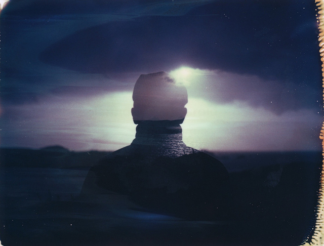 analoganalogue :     Double exposure on Polaroid IDUV