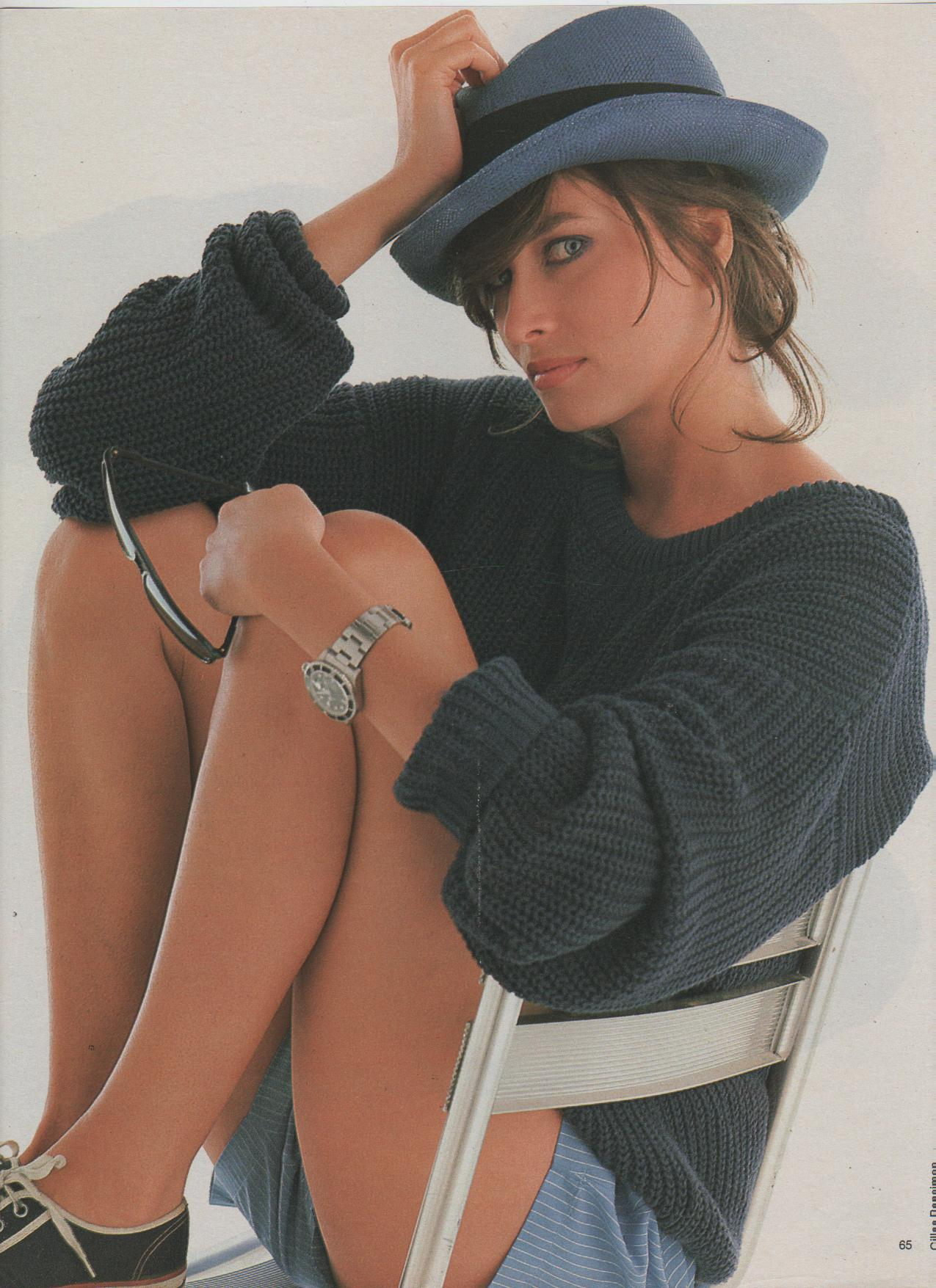 "80s-90s-supermodels :       ""Le Masculin Au Feminin"", Elle France, August 1985    Photographer : Gilles Bensimon   Model : Rosemary McGrotha"