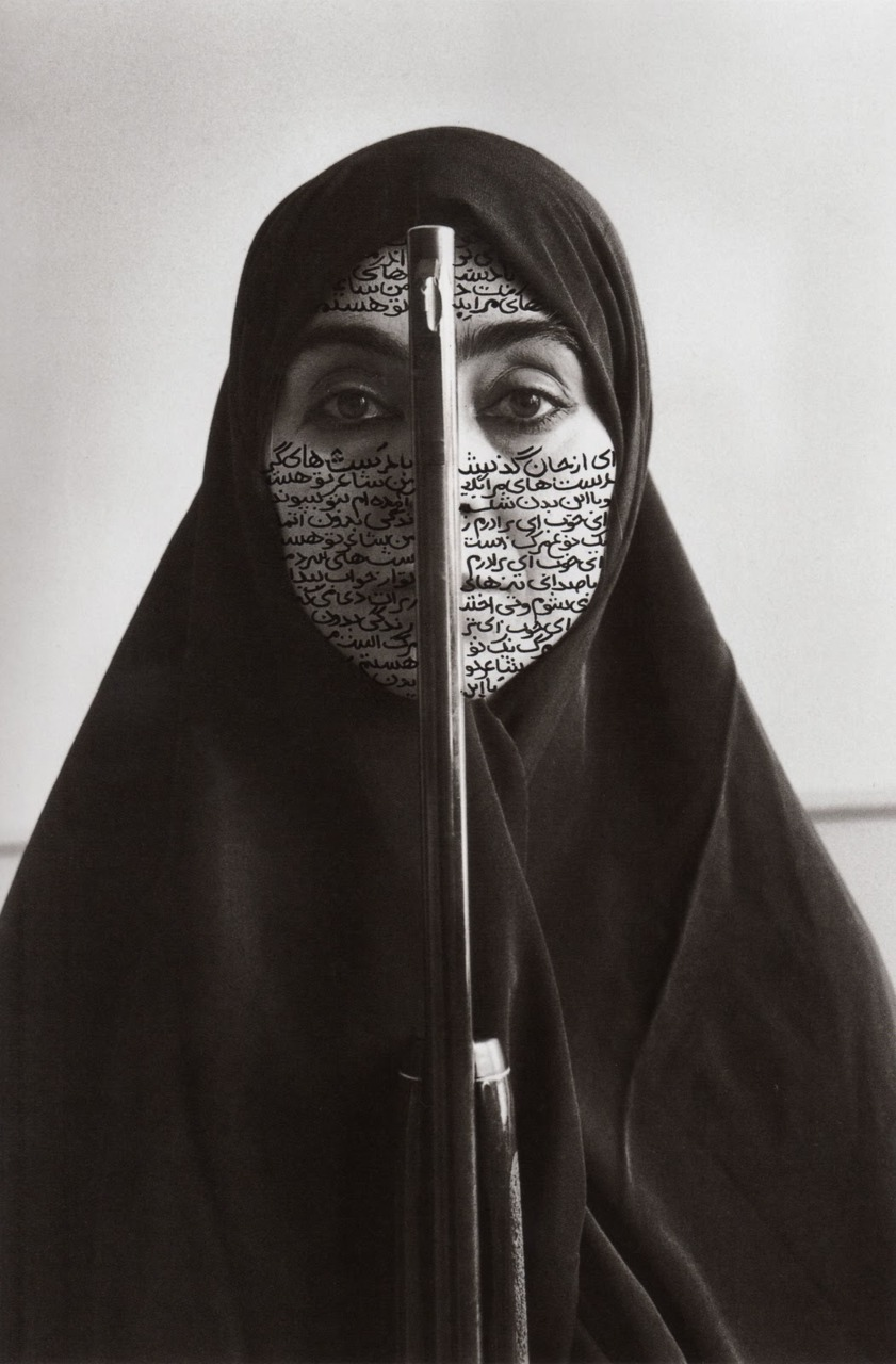 theonlymagicleftisart :       Shirin Neshat  -   Rebellious Silence  , 1994. RC print and ink