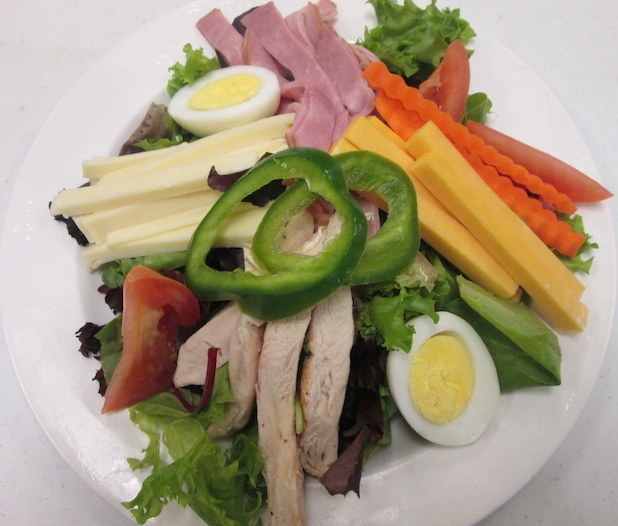 Pictured above: Traditional chef's salad