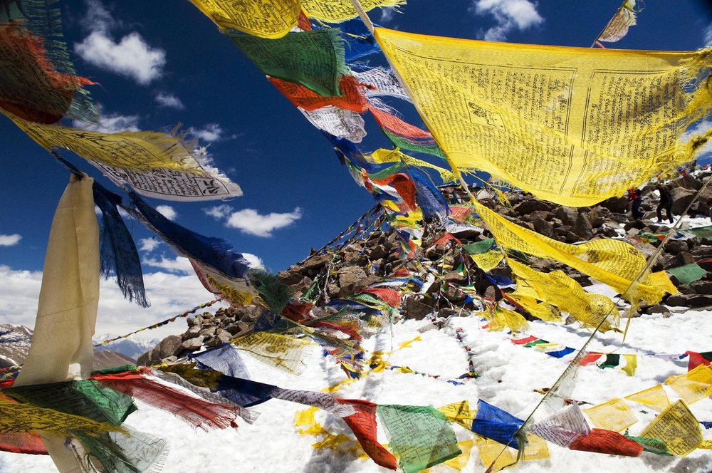 Khardung La (18,300 feet), India
