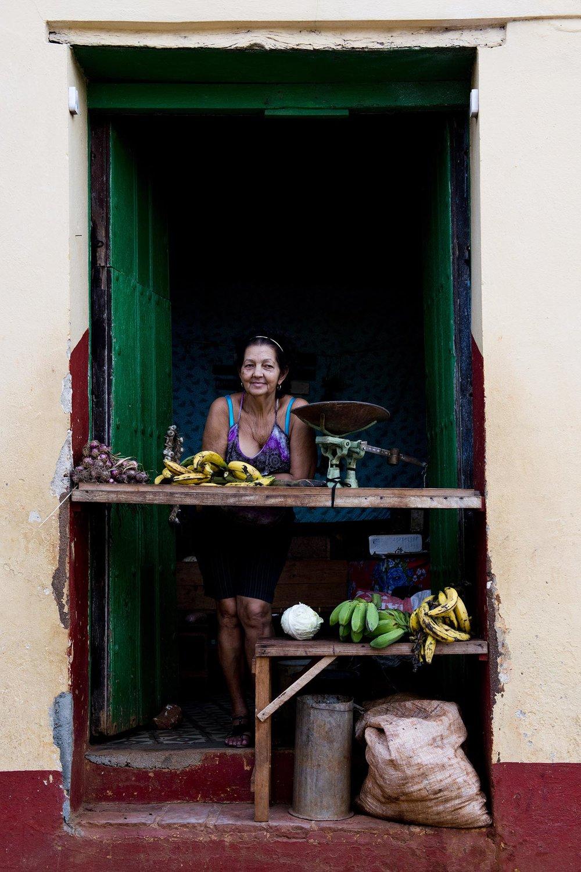 Fruit vendor, Trinidad, Cuba
