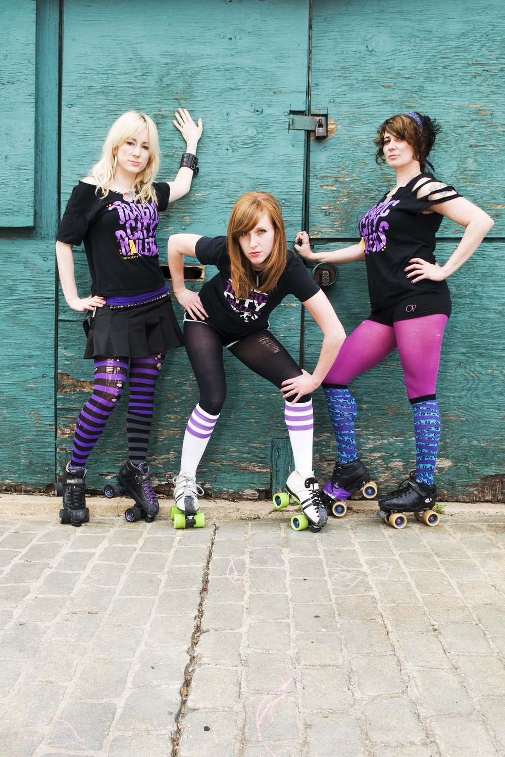 Voodoo Lily, Acute Pain and Dixie Thrash of the Tragic City Rollers, Birmingham, Alabama