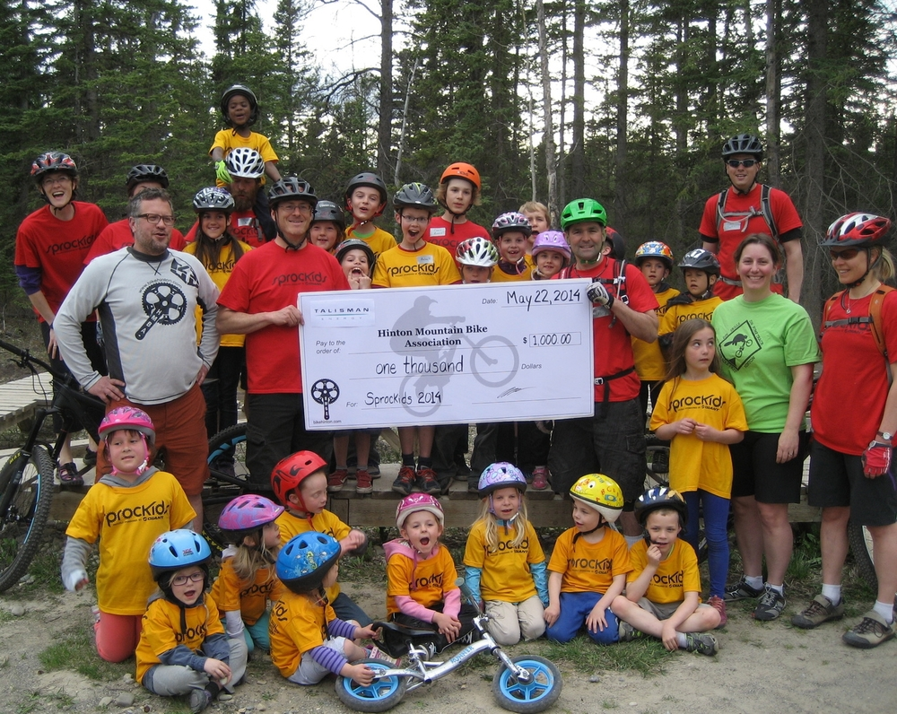 A big THANK YOU!! to Talisman Energy Inc. for donating $1000 towards the Sprockids Program.