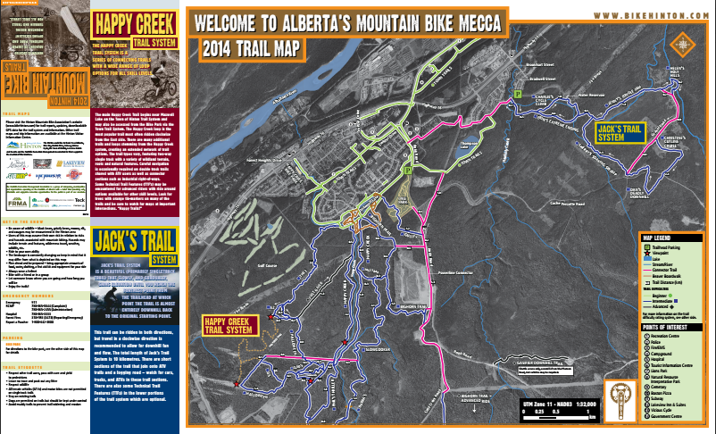OVERVIEW TRAIL & BIKE PARK MAP - Click here or the image above to download a PDF of the trail map (Bike Park Map included). (11MB)