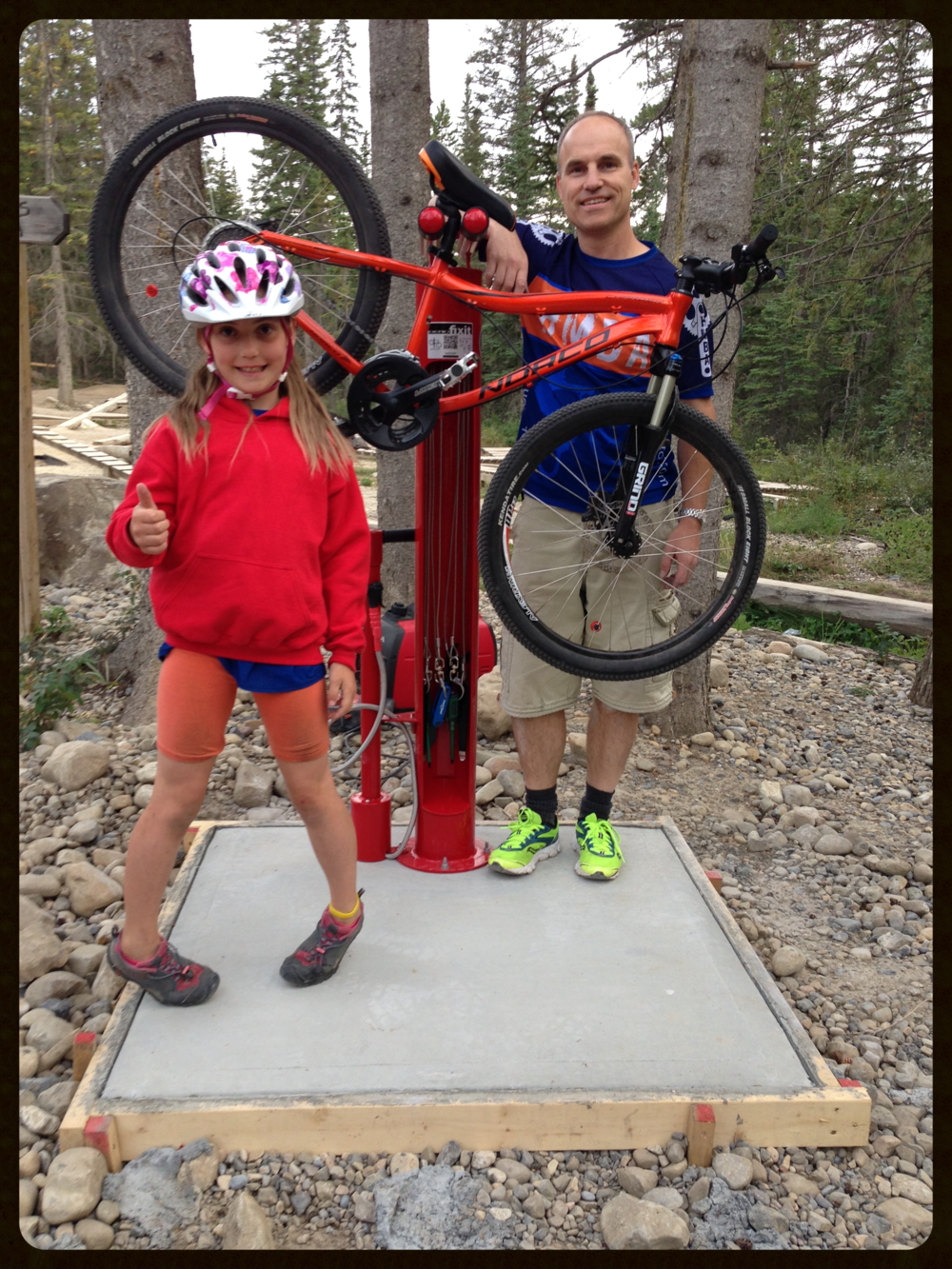 A thumbs up for this great addition to the Hinton Bike Park!