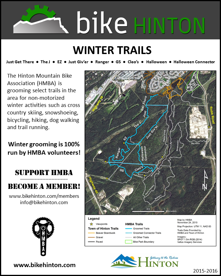 Signage that will be posted on the winter trails.  Click to enlarge.
