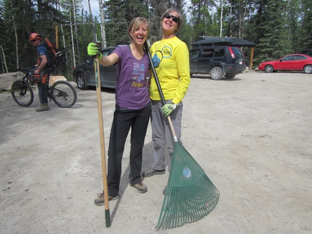Gabby and Ellen made good work on clearing Stinger - make sure this relatively new trail is on your to-do list!