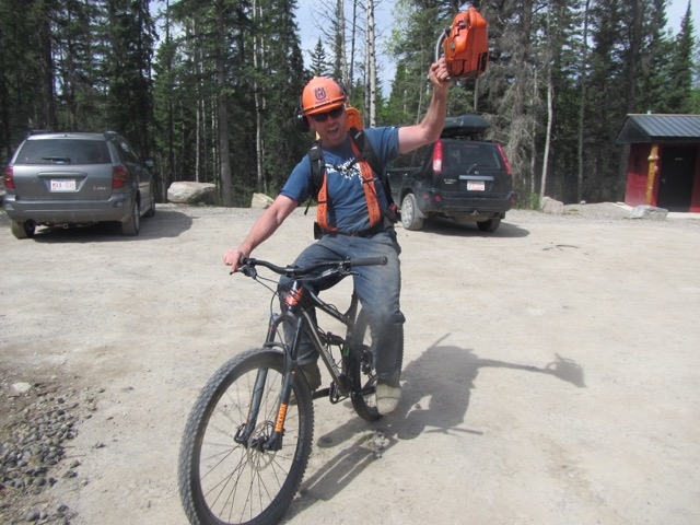 Kevin Myles, HMBA's Trail Coordinator, is stoked about the grant and the work being done to make the Hinton Bike Park even more awesome!