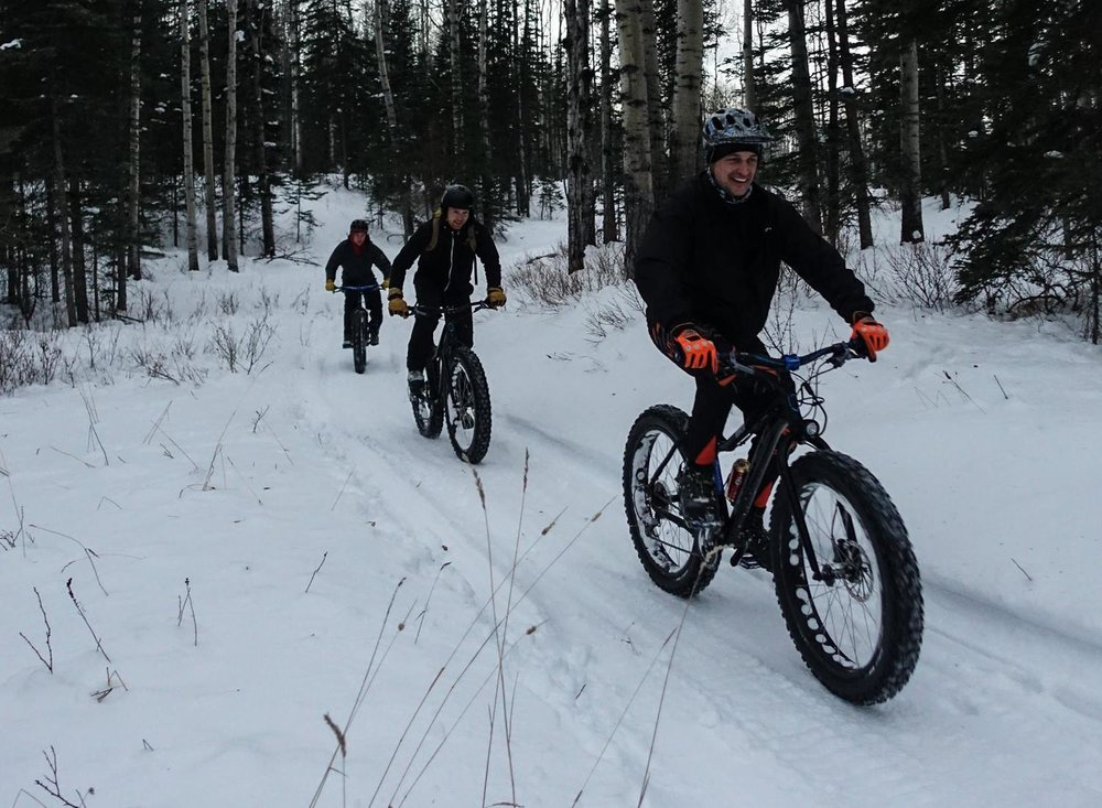 Groomed trails in Hinton