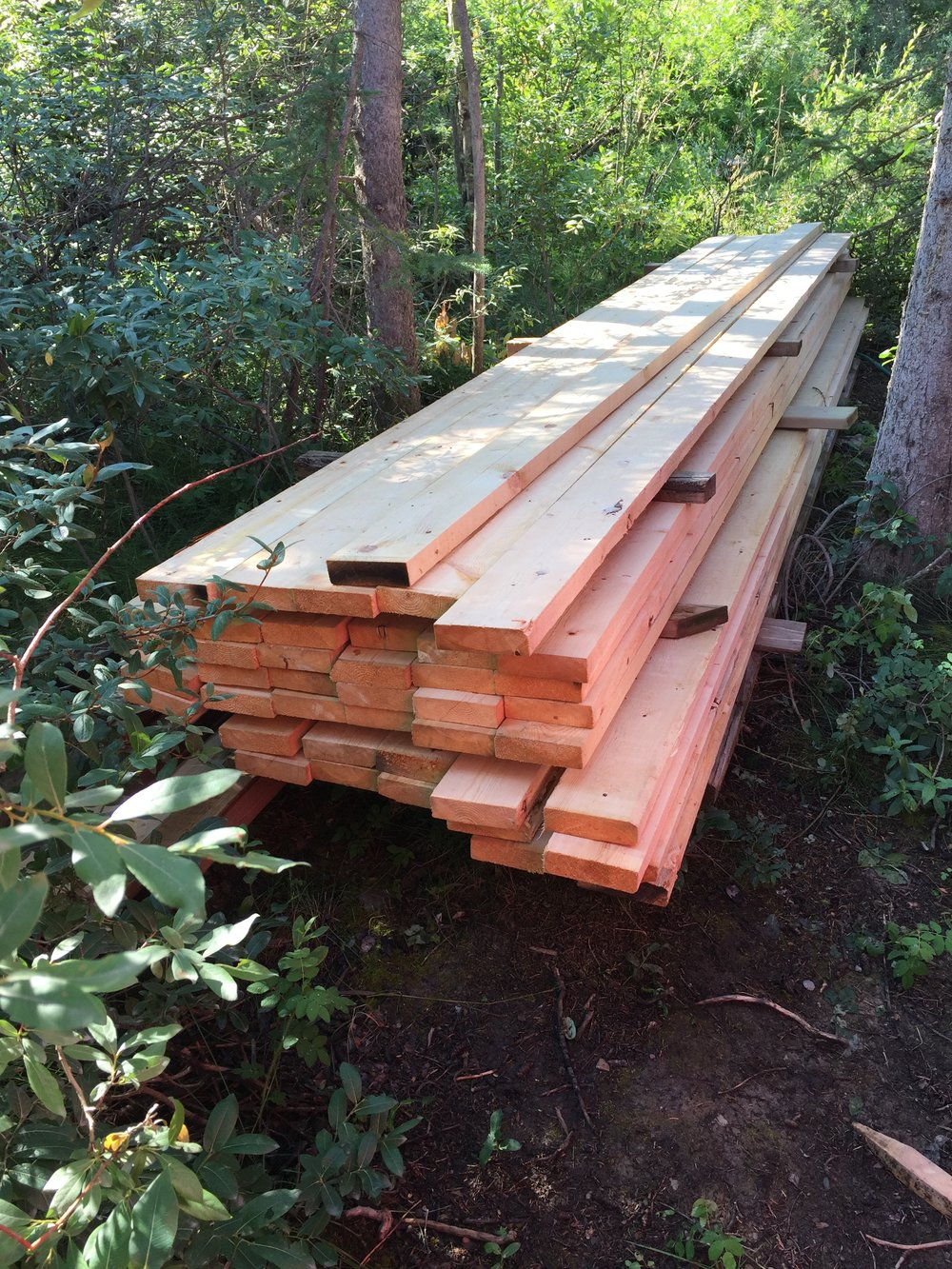 Lumber donated from West Fraser Mills Ltd.