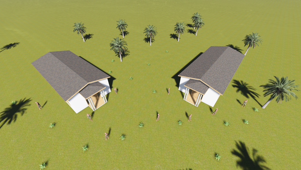 Architectural Sketch of Classroom Units. The VAD Foundation will construct a green building with solar power that will serve as the facility for the training program and also a community center on weekends creating 12 permanent and 250 temporary jobs