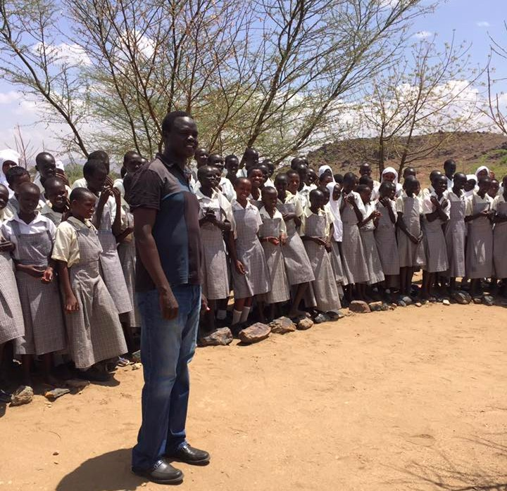 Valentino wanted to see what had changed since he left. And once he arrived, he also felt that he could help. He scoped out areas where the VAD Foundation could support youth at the Camp, in particular girls who want to continue their education. He visited the Angelina Jolie Secondary Boarding School for girls (shown above) and had an idea: