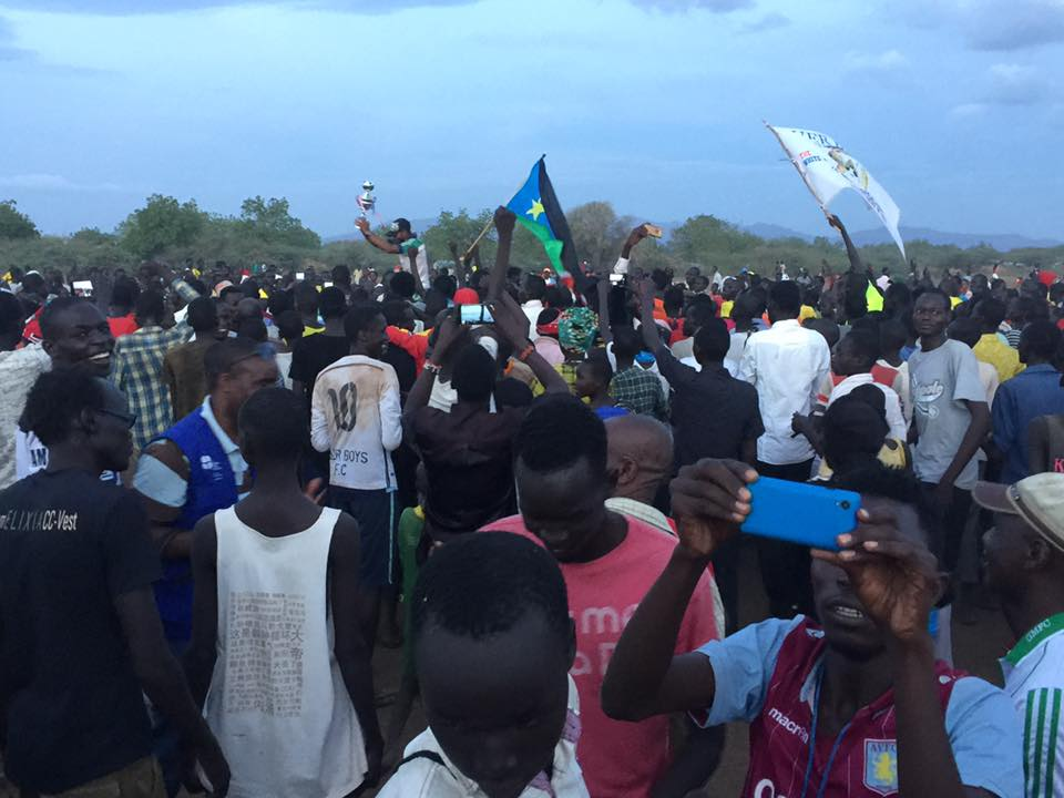 The Youth and Culture Program, which Valentino helped run when he lived there, hosts a variety of sports activities--basketball, soccer, volleyball and the Kakuma Premier League (a popular tournament of Camp soccer teams pictured above.)