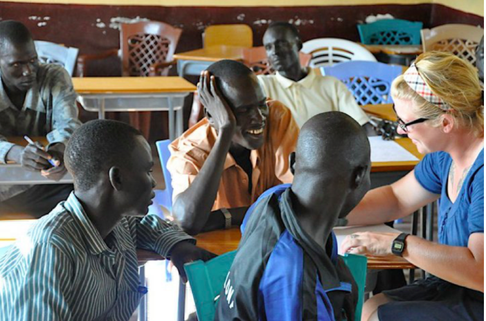 "Nicki Pfaff volunteered at Marial Bai Secondary School and is an extraordinary teacher in the Bay Area that continues to support VAD and inspire her students. We are so happy to have Nicky's support in South Sudan and her incredible outreach to her students and community. Nicky tells us,   ""I became involved with the VAD around 2010 when I traveled to South Sudan with a group of teachers to train Marial Bai Secondary School teachers in curriculum planning. I spent about six weeks in Marial Bai, holding teacher and administrator workshops, and marveling at the tenacity of the students to get an education. Each student was wholly dedicated to their education, and it inspired me as a teacher to prepare their instructors as best I could. The students of the Marial Bai Secondary School have had a lasting impression on me, and my own teaching practice, and I am eternally grateful for this experience."""