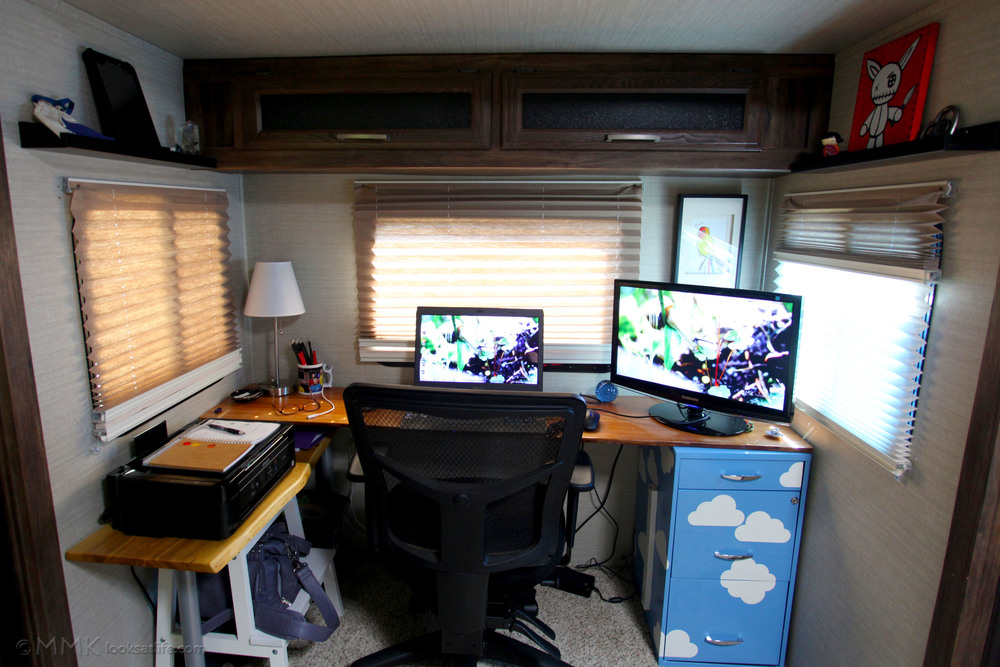 My new office in our new home. Where all this writing and non-writing is taking place!