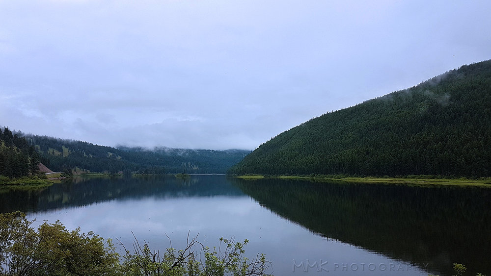 Salmon Lake, just south of Seeley Lake, the day I arrived. A little cloudy, but still beautiful.