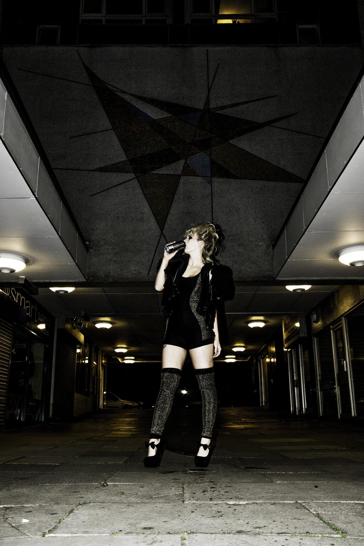 zaramia-ava-zaramiaava-leeds-fashion-designer-ethical-sustainable-black-gold-versatile-drape-midi-crop-jacket-jumpsuit-print-panels-bodysuit-womenswear-grunge-tyres-location-photoshoot-7