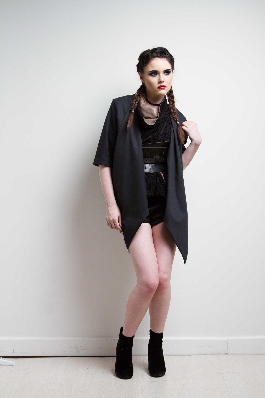 zaramia-ava-zaramiaava-leeds-fashion-designer-ethical-sustainable-black-versatile-drape-wrap-top-cowl-mio-jacket-shorts-womenswear-belt-grunge-4