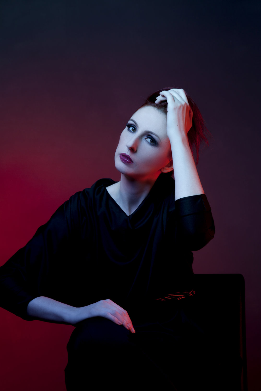 zaramia-ava-zaramiaava-leeds-fashion-designer-ethical-sustainable-red-versatile-drape-wrap-aya-cowl-dress-styling-studio-womenswear-models-photoshoot-black-colour-3