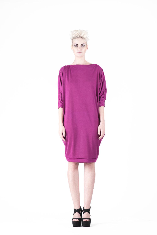 zaramia-ava-zaramiaava-leeds-fashion-designer-ethical-sustainable-tailored-minimalist-ayaka-magenta-dress-versatile-drape-cowl-styling-womenswear-models-photoshoot-30