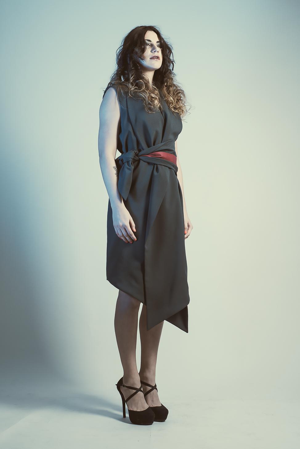 zaramia-ava-zaramiaava-leeds-fashion-designer-ethical-sustainable-tailored-minimalist-emika-grey-black-red-belt-versatile-drape-cowl-styling-womenswear-models-photoshoot-shrine-hairdressers-76