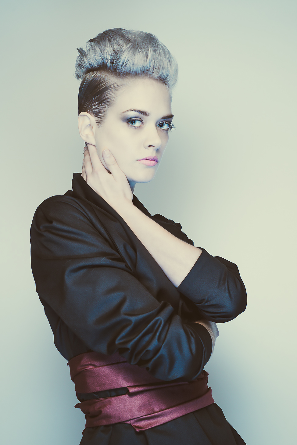 zaramia-ava-zaramiaava-leeds-fashion-designer-ethical-sustainable-tailored-minimalist-mio-black-jacket-top-red-belt-versatile-drape-cowl-styling-menswear-models-photoshoot-shrine-hairdressers-40