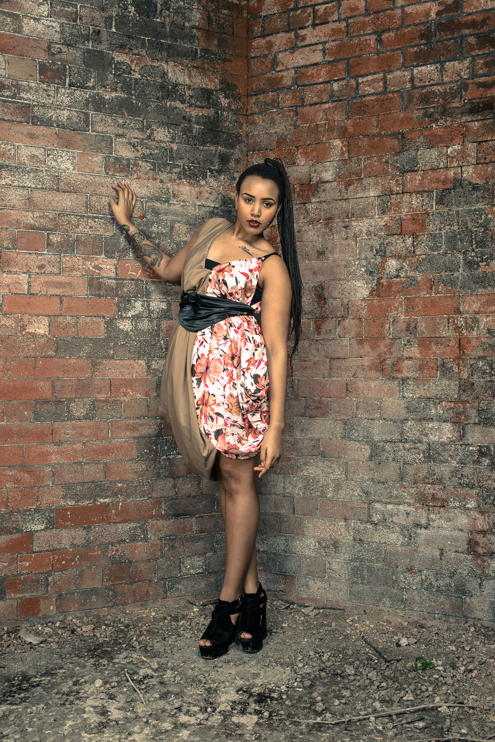zaramia-ava-zaramiaava-leeds-fashion-designer-ethical-sustainable-tailored-minimalist-burgundy-versatile-drape-dress-flower-nude-print-belt-wrap-cowl-styling-bodysuit-womenswear-models-photoshoot-9
