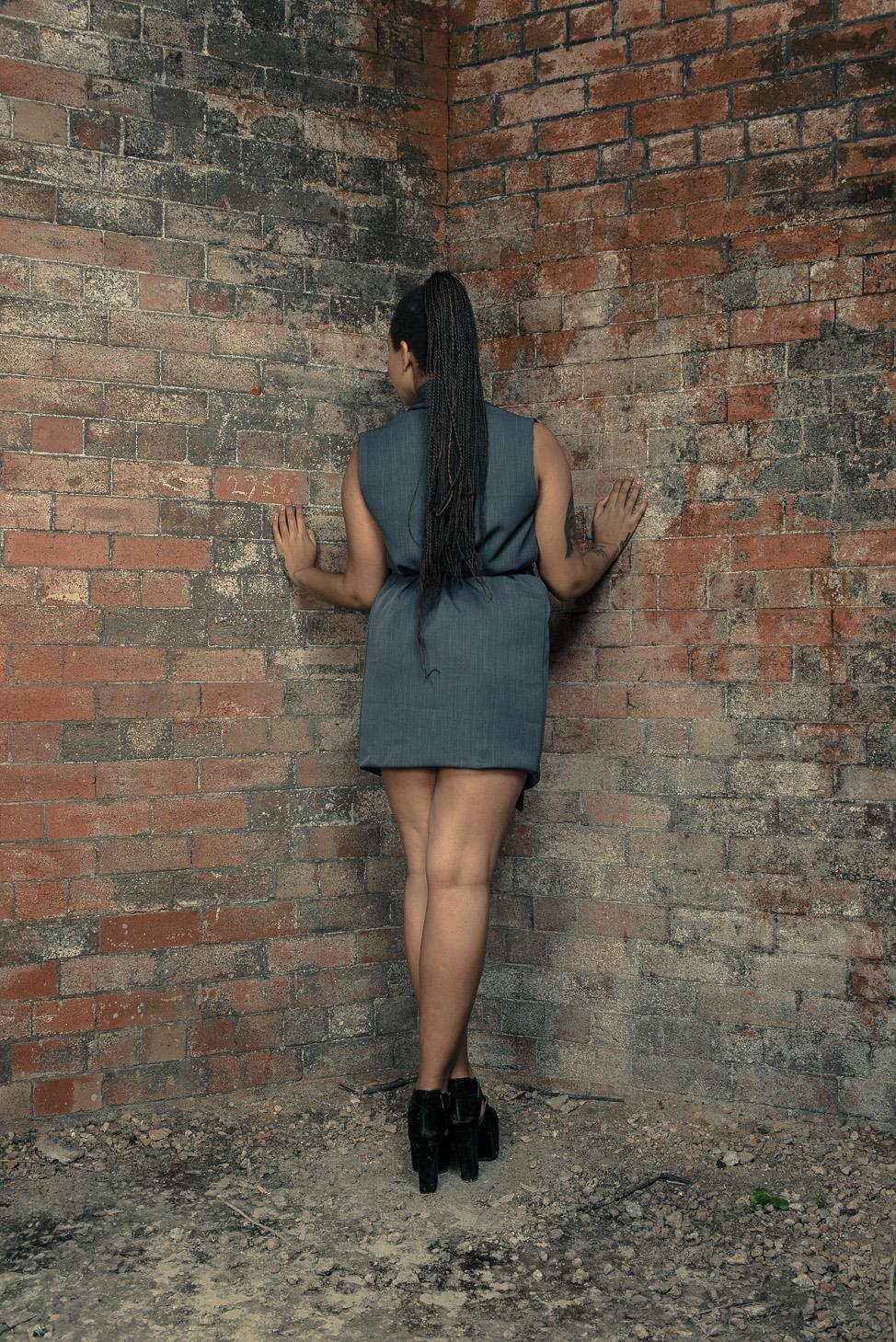 zaramia-ava-zaramiaava-leeds-fashion-designer-ethical-sustainable-tailored-minimalist-dress-jacket-versatile-drape-grey-bodysuit-black-obi-belt-wrap-cowl-styling-womenswear-models-photoshoot-26