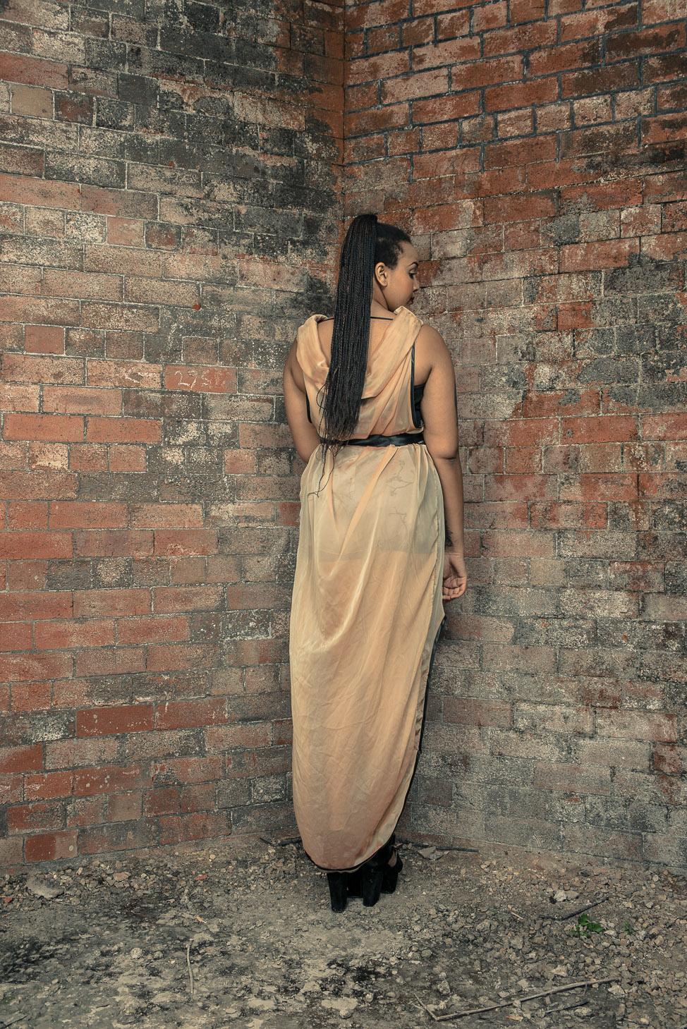 zaramia-ava-zaramiaava-leeds-fashion-designer-ethical-sustainable-tailored-minimalist-sheer-versatile-drape-dress-gold-binding-belt-wrap-cowl-styling-bodysuit-womenswear-models-photoshoot-location-5
