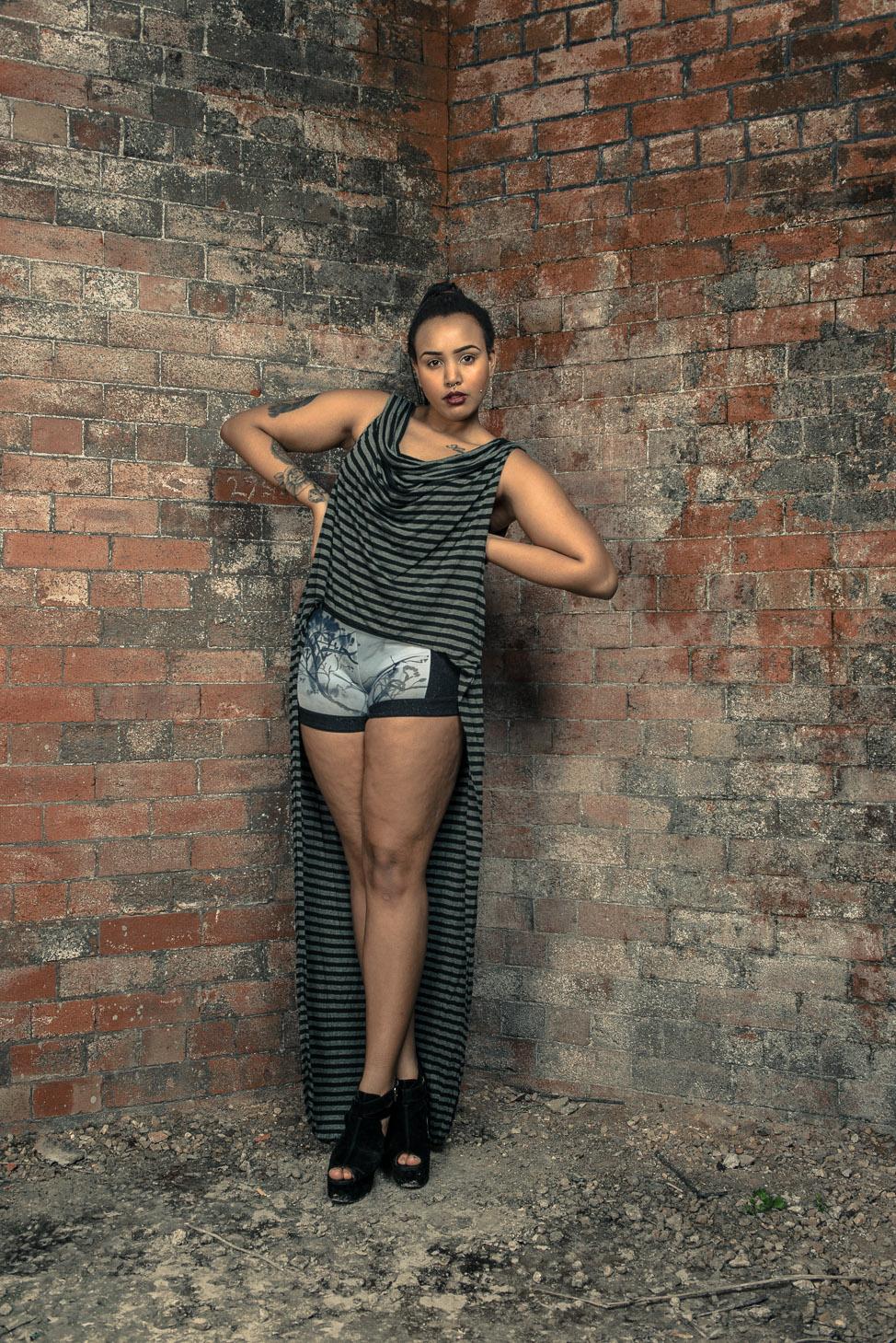 zaramia-ava-zaramiaava-leeds-fashion-designer-ethical-sustainable-tailored-minimalist-stripe-bodysuit-versatile-drape-dress-top-black-grey-print-belt-wrap-cowl-styling-bodysuit-womenswear-models-13