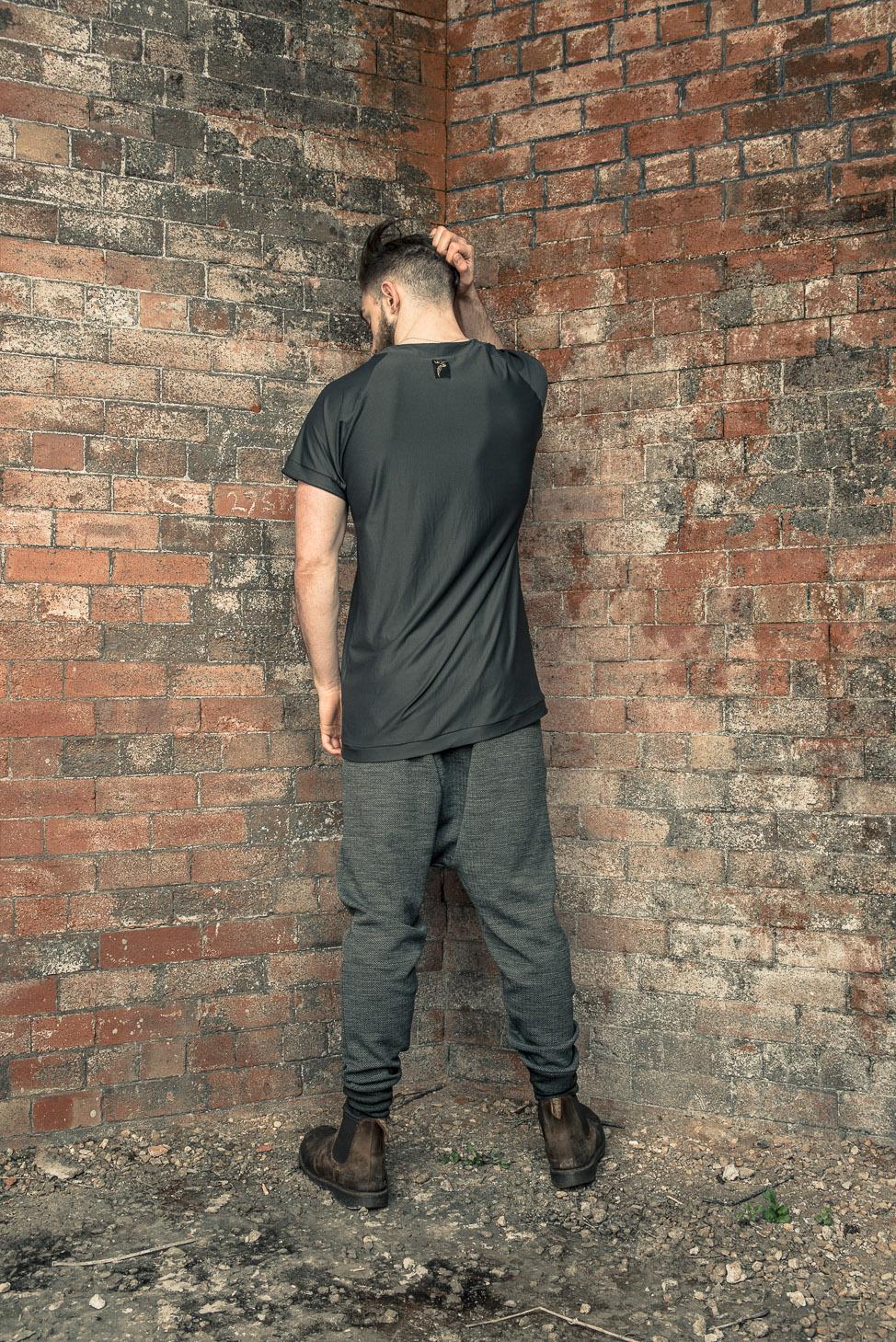 zaramia-ava-zaramiaava-leeds-fashion-designer-ethical-sustainable-tailored-minimalist-mesh-oversized-taichi-raglan-versatile-drape-grey-tshirt-top-hareem-trousers-black-grey-texture-styling--2