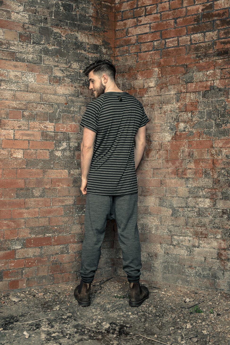 zaramia-ava-zaramiaava-leeds-fashion-designer-ethical-sustainable-tailored-minimalist-stripe-oversized-taichi-raglan-versatile-drape-grey-tshirt-top-vest-hareem-trousers-black-grey-texture-styling-6