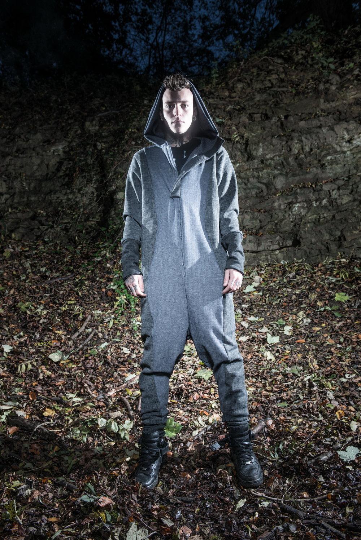zaramia-ava-zaramiaava-leeds-fashion-designer-ethical-sustainable-tailored-minimalist-versatile-drape-grey-jumpsuit-top-denim-trousers-black-grey-texture-styling-menswear-model-photoshoot-location-4