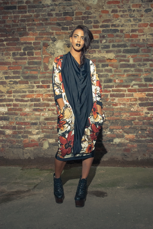 zaramia-ava-zaramiaava-leeds-fashion-designer-ethical-sustainable-tailored-minimalist-versatile-drape-wrap-dress-cowl-bodysuit-aya-midi-panels-print-belt-styling-womenswear-model-photoshoot-78