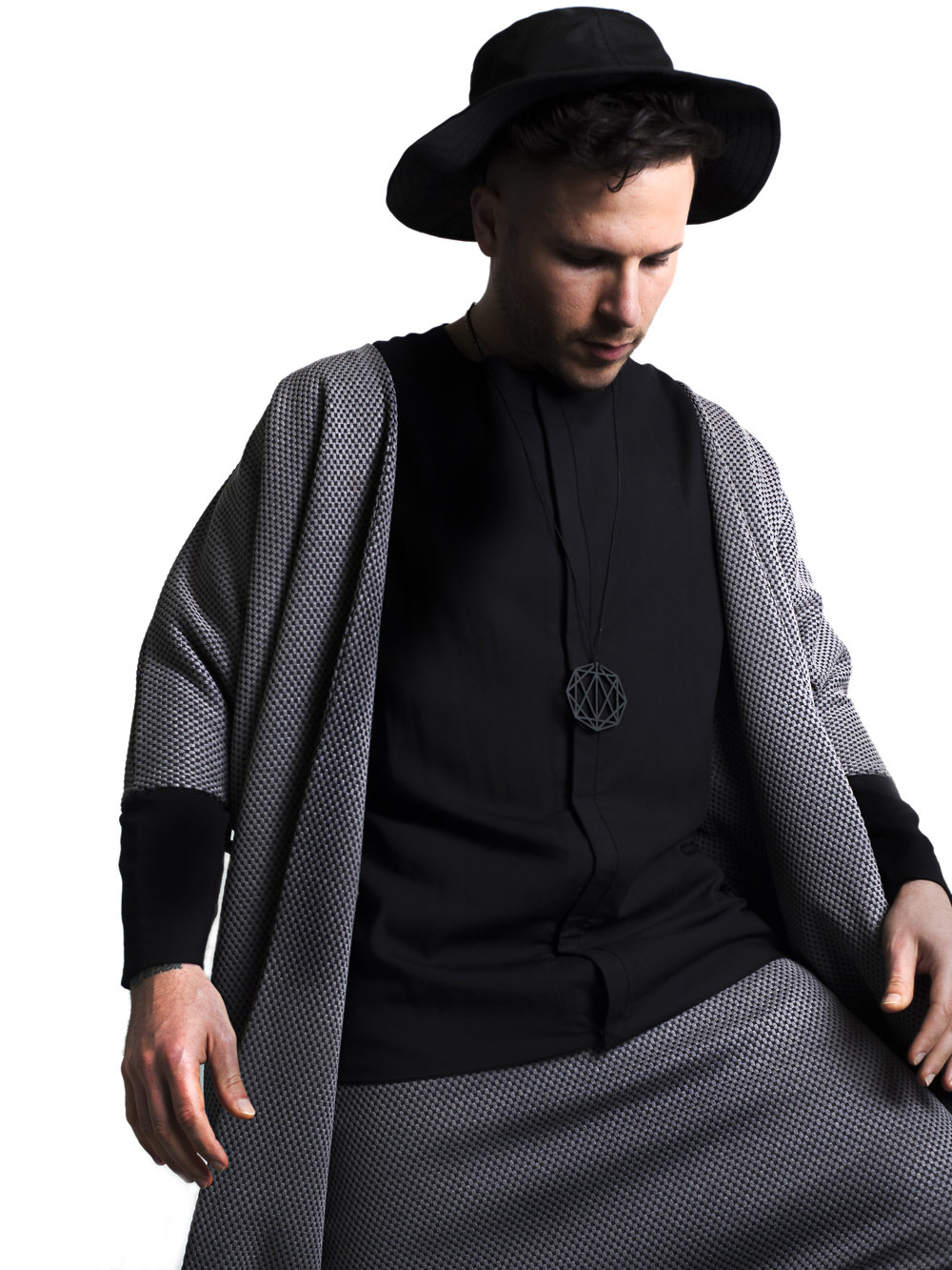 zaramia-ava-zaramiaava-leeds-fashion-designer-ethical-sustainable-tailored-minimalist-editorial-print-black-hareem-tshirt-versatile-drape-cowl-styling-studio-menswear-models-photoshoot-black-white-trousers-hat-monochrome-9.jpg