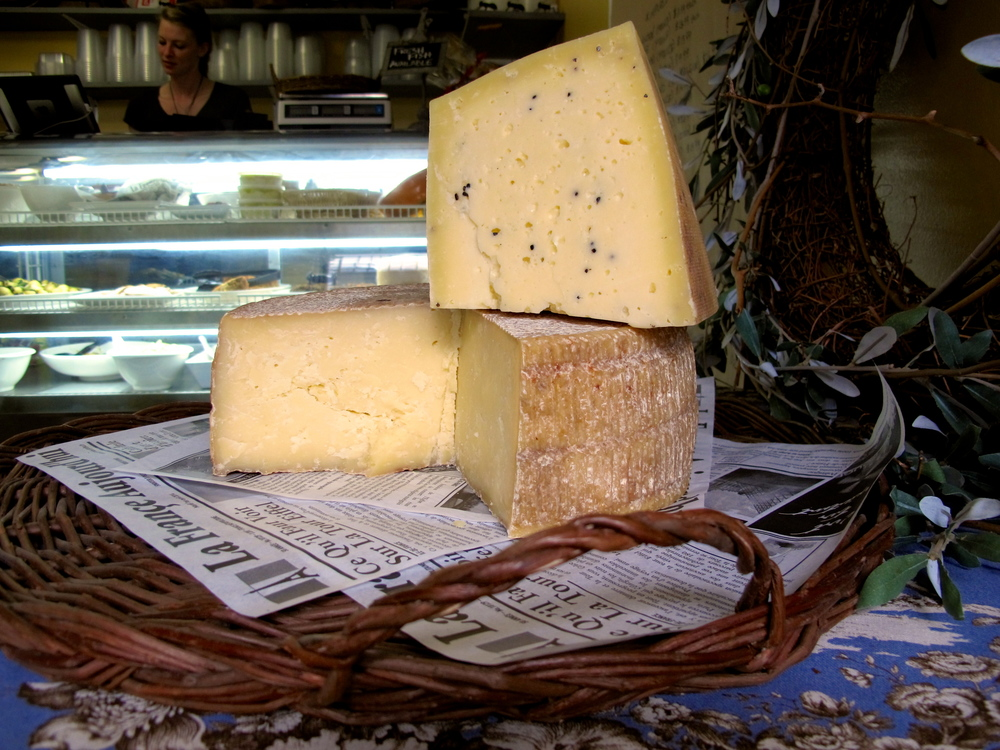 Local Cheeses: Dutch Girl's Antoinette and Cooperstown Cheese Company's Toma Torino with Cardamon