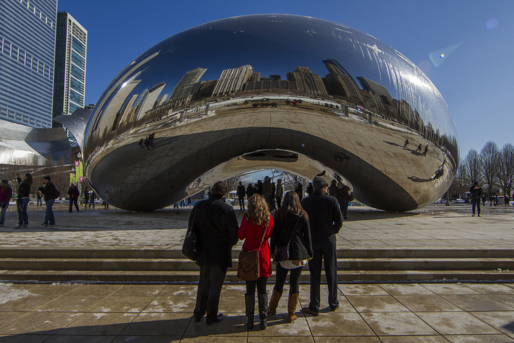 Cloud Gate (The Bean) -  https://en.wikipedia.org/wiki/Cloud_Gate