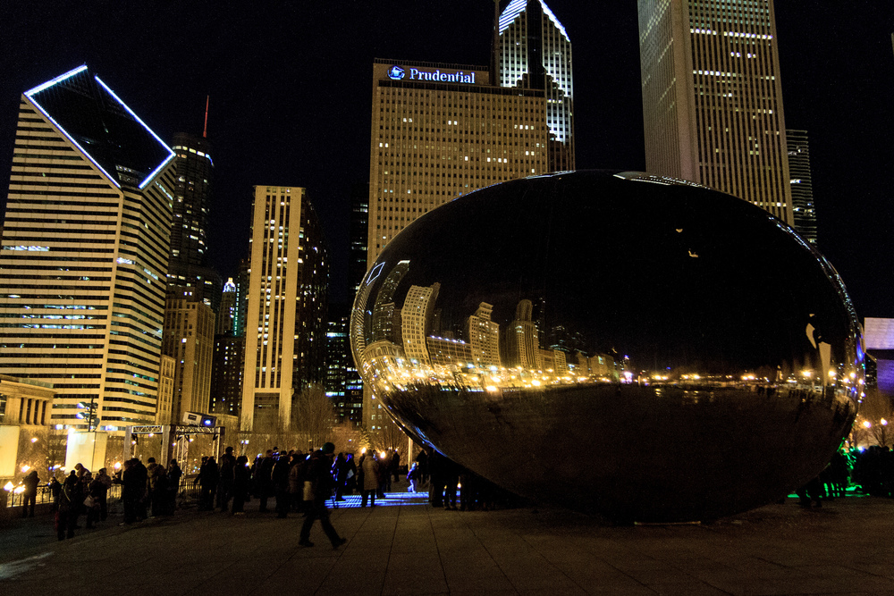 The Bean at Night