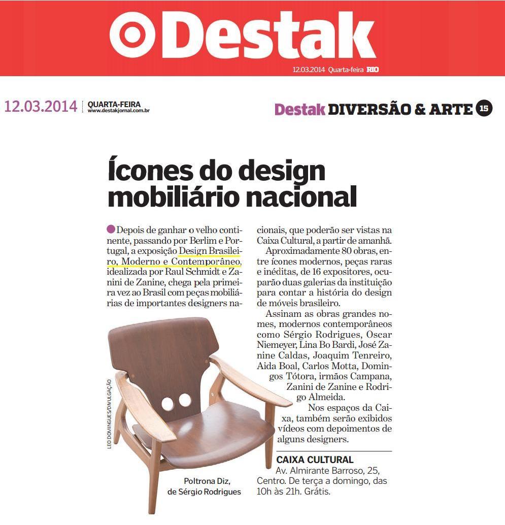 EXPOSIÇÃO DESIGN BRASILEIRO, MODERNO E CONTEMPORÂNEO NO DESTAK 12.03.2014.JPG