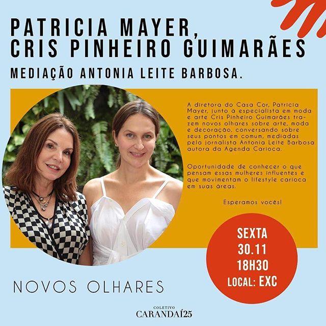 Patricia Mayer, sócia-diretora da @casacorrio_oficial fala hoje na @carandai25 no Jockey. Não percam! #clientesangelafalcão #imperdível
