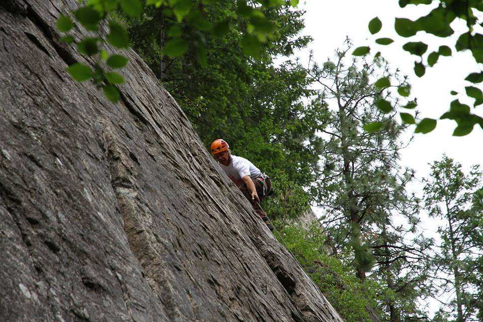 Finding Ease at Skaha. (Camera Motivated Risk?) Photo: Al Yamada