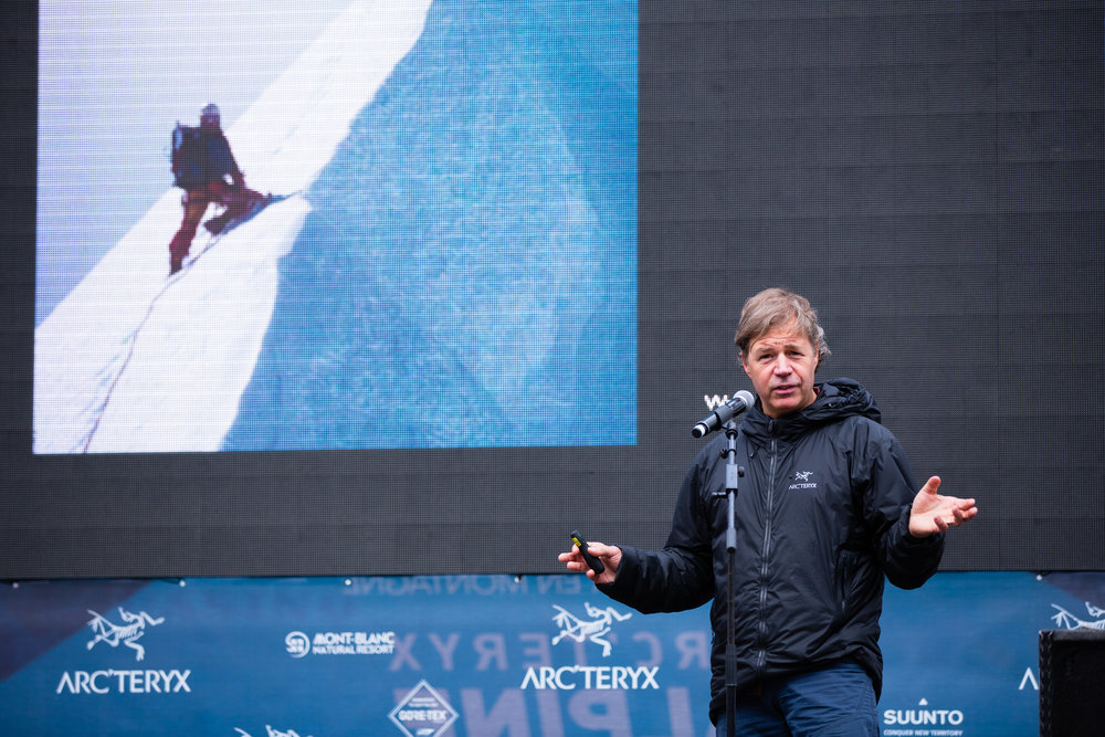 Speaking in Chamonix France at the Arc'teryx Alpine Academy    Piotr Drożdż Photography