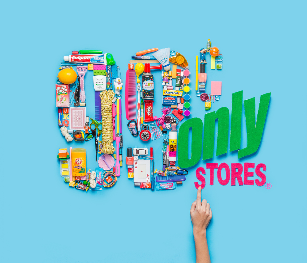 """ 99 Cent Only Store "" logo creating using items from the store / Los Angeles, CA / Feb 2016"