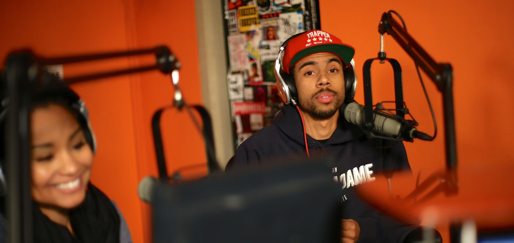 @VicMensa on @shade45 #ShowoffRadio w/ @statikselektah Shot by @jFlei