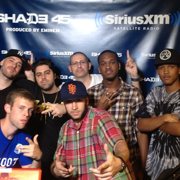 @AlLindstrom video squad rare team meeting up at @shade45 last night (at SiriusXM Studios)