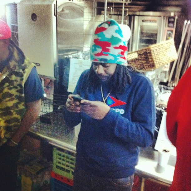 @wale backstage at Adelphi U.