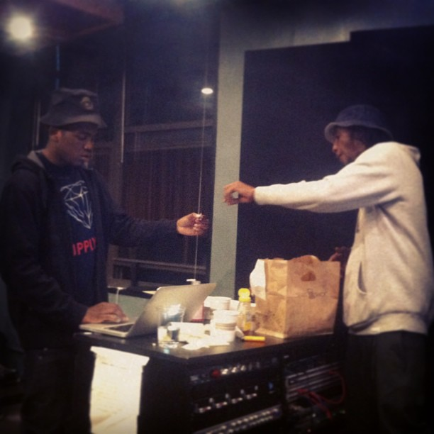 @kirkknight x @flyestintheeera in the studio…